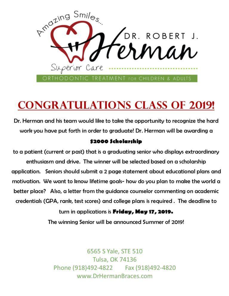 2019 Scholarship Flyer